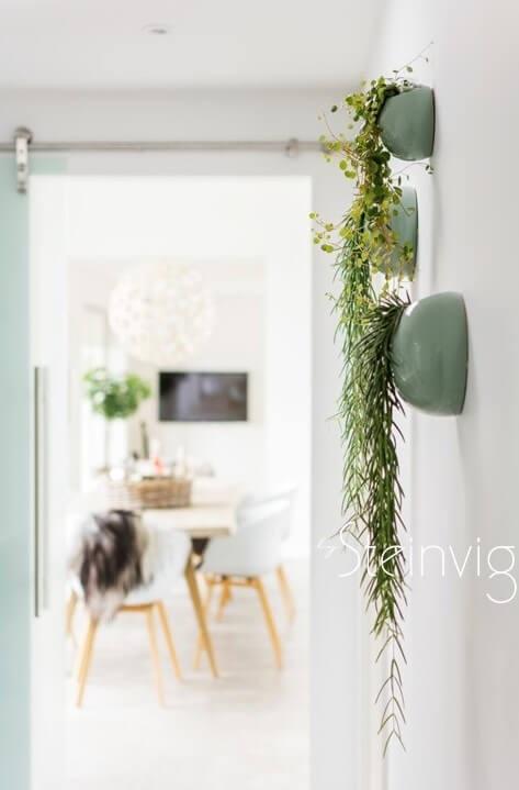 Entre indretning med grønt