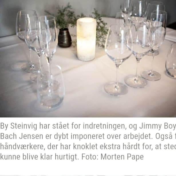 Omtale i Horsens Posten By Steinvig Restaurant Indretning